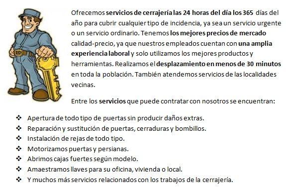 cerrajeros en San Fernando 24 horas urgentes